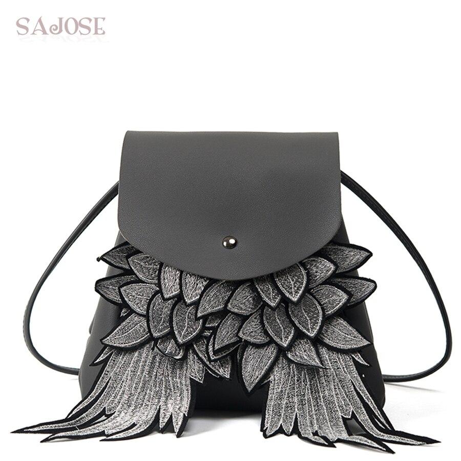 SAJOSE 2017 Japan And South Korea Fashion Women Backpack Wing Women S Shoulder Messenger Student Bag