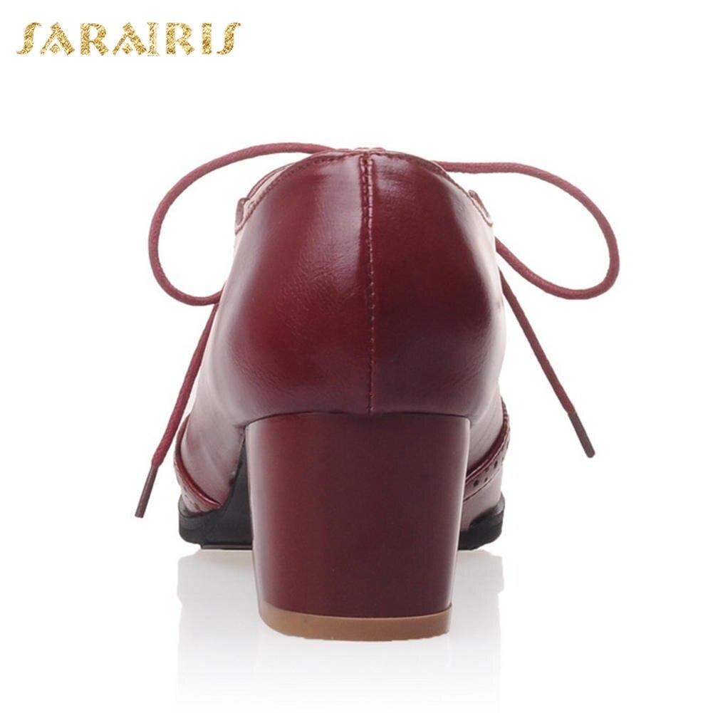 Plus Beige 2018 Ocio Tamaño Casual Sarairis Pequeño De rojo marrón Brogue Personalizada Dropship Zapatos Mujer negro 28 52 6wdwqIRn