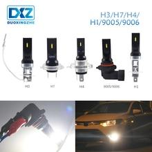 DXZ 1 шт. Авто H8 H11 H9 H1 H4 H7 H3 светодиодный 9005 HB3 9006 HB4 12 V 1860 Противотуманные фары дневные фары лампы дневного света белый поворот Парковка лампы