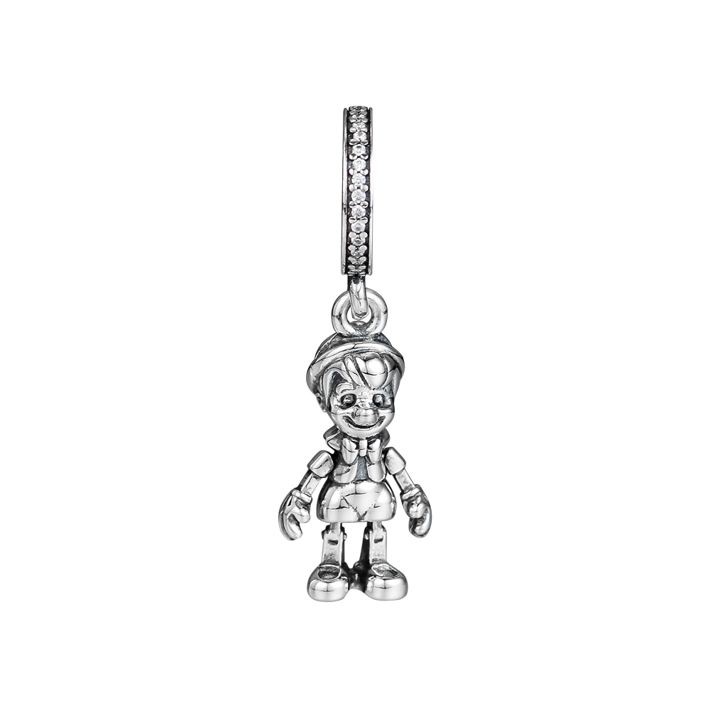 CKK Silver 925 Jewelry Fits Pandora Bracelets Pinocchio Dangle Charm Fashion Beads Original Sterling Silver Making