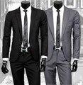 Compras libres nueva primavera 2014 traje casual de negocios con pantalones de un botón slim fit boda trajes para hombre / XF44
