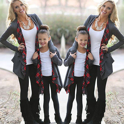New Family Outfits Clothing Mother Daughter Cardigan Sweater Outwear Jacket Fasion Autumn Winter Top Clothes