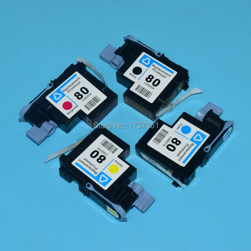 1 set HP80 Printhead C4820A C4821A C4822A C4823A for hp 80 Designjet 1000 1000plus 1050 1055 print head стул цвет мебели sc 001c черный