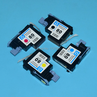 1 Set HP80 Printhead C4820A C4821A C4822A C4823A For Hp 80 Designjet 1000 1000plus 1050 1055