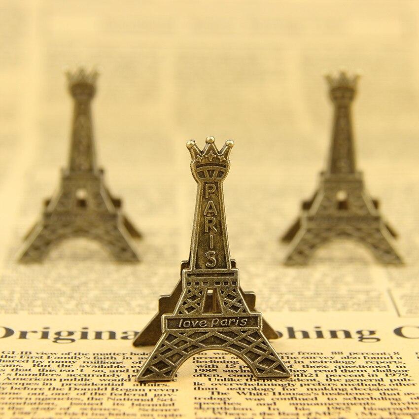 Hot 1 PC vintage Eiffel Tower Wedding Gift Wedding Seats Clip ...