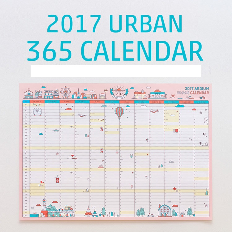 2017 year 365 days planner countdown calendar paper day planner cute cartoon school supplies in calendar from office school supplies on aliexpress com