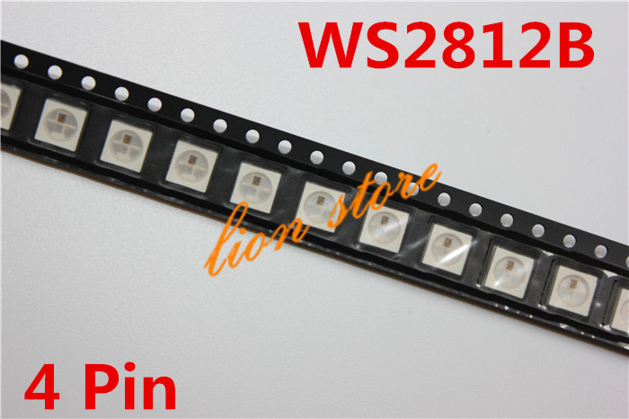 10 50 100 PCS WS2812B 4pins 5050 SMD W WS2811 Individually Addressable Digital RGB LED Chip
