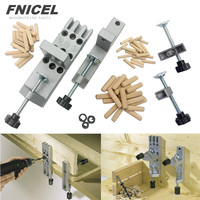 NEW Punch Positioner Dowelling Jig for Furniture Fast Connecting Woodworking Drilling Guide Kit Location Tools