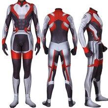 Avengers Endgame Quantum Realm Cosplay Costume Superhero Captain America