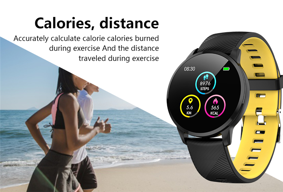 Image 2 - LIGE Sport Smart Bracelet Heart rate Blood Pressure Monitor Weather Display Pedometer Wristband Smartwatch For Android ios +Box-in Smart Wristbands from Consumer Electronics