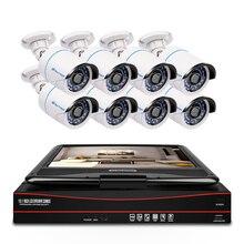 Techage 8CH 1080 P POE CCTV IP מצלמה מערכת 2MP HD 10.1 אינץ LCD צג NVR אבטחה עמיד למים מעקב מקליט וידאו ערכת
