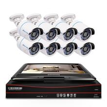 Techage 8CH 1080P POE CCTV نظام كاميرا شبكية 2MP HD 10.1 بوصة شاشات كريستال بلورية NVR الأمن مقاوم للماء مسجل فيديو طقم