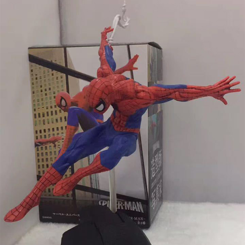 Spider-man Action Figure 1/8 Scale Painted Figure Classics Style Ver Toys & Hobbies Spider-man Pvc Figure Toy Brinquedos Anime To Have A Long Historical Standing