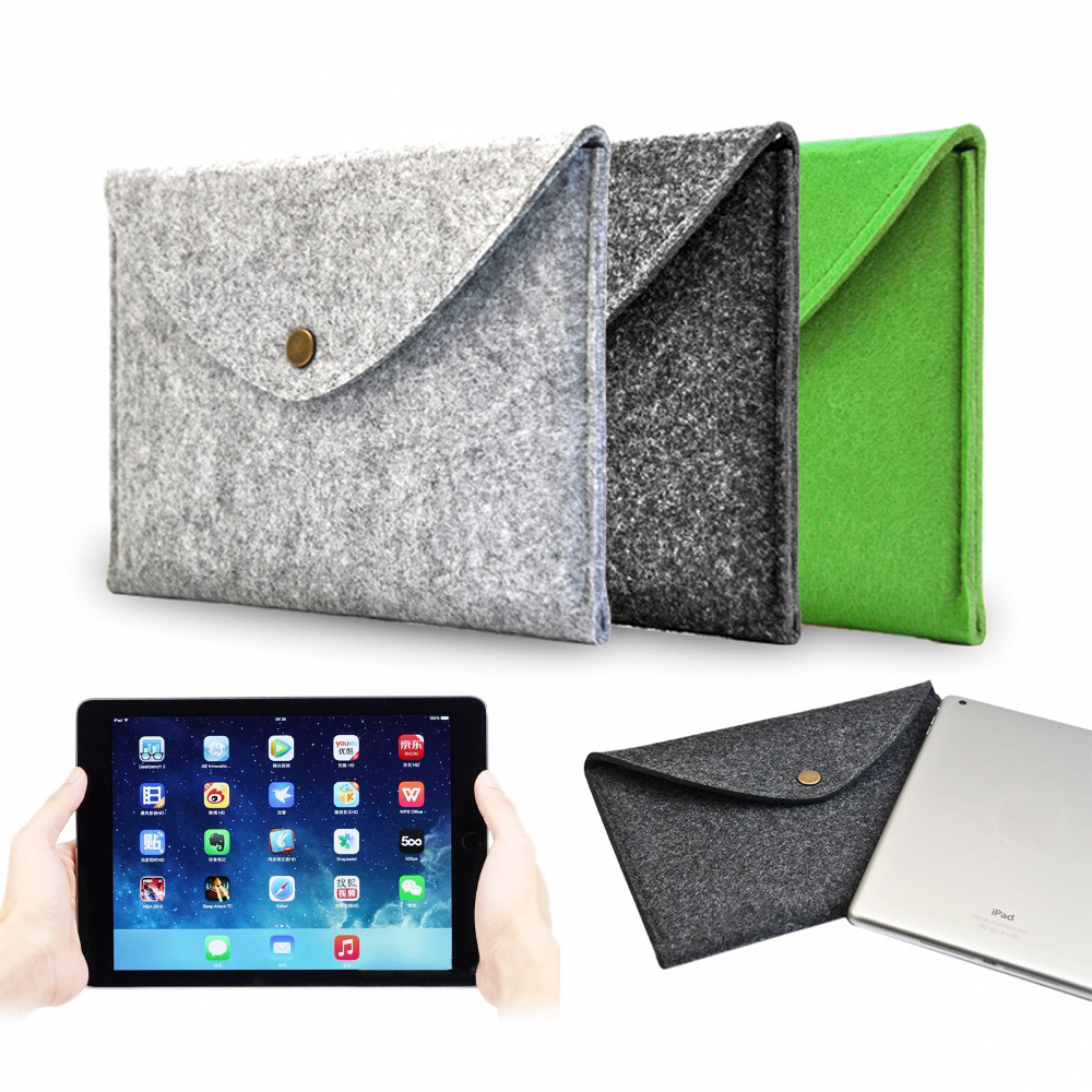 For iPad Mini 1 2 3 4 Universal 7.9 inch Wool Felt Envelope Portable Tablet Case Notebook Cover Sleeve Cases Durable Bag