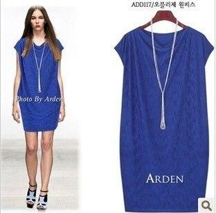 2013 elegant one-piece dress fashion medium-long plus size sleeveless tank dress female