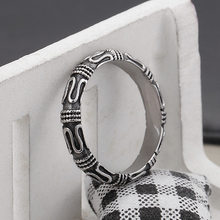 Fashion retro style men's ring ring magic spell ring punk personality Monkey King stick ring couple(China)