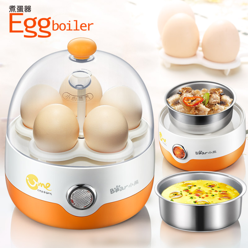 Bear Multi Mini Egg Boiler Automatic Power-off Household Mini Egg Small Breakfast Egg Custard Machine Egg Master Mini Steamer bear multi egg boiler double layer timing automatic power off of large capacity mini steamer egg custard multi cooker