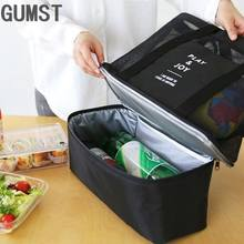 Sacos de Almoço bolsa térmica para Mulheres Adultos Recipiente De Armazenamento De Alimentos Isolados Saco do Refrigerador Do Piquenique Tote Bolsas de isolamento Portátil(China)