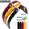 Pulseira da moda para as mulheres pulseira de couro Genuíno polido branco laranja vermelho preto roxo 6mm 8mm 10mm cinta