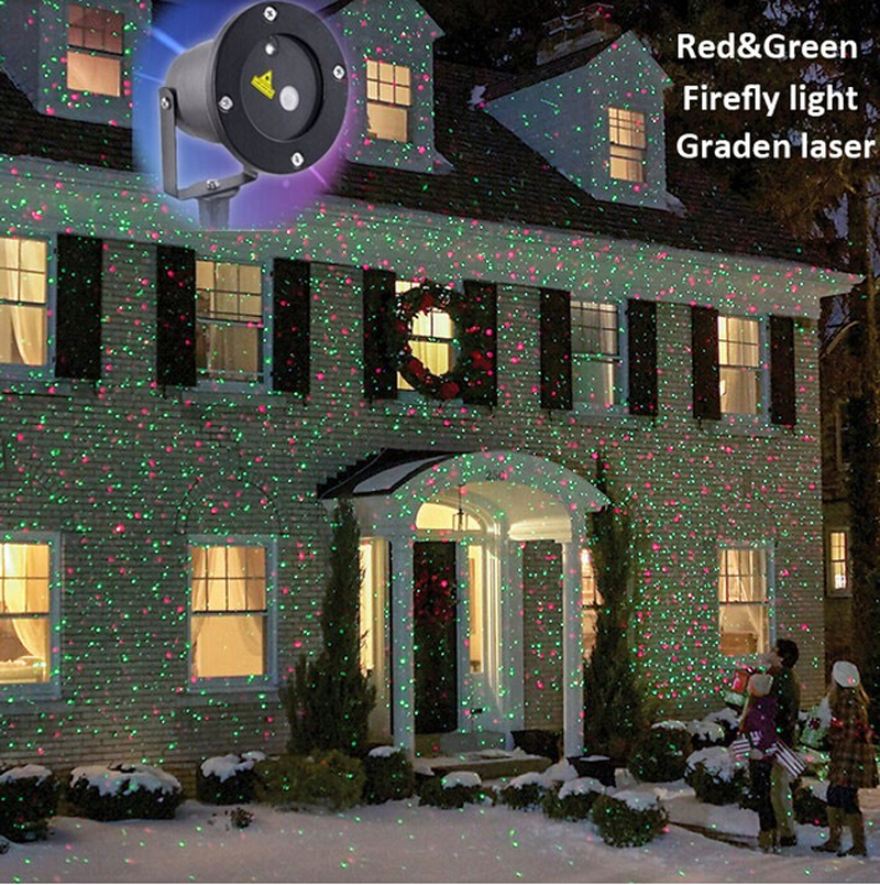 dhl free remote controller christmas gr laser project outdoor holiday waterproof laser lighting projector show landscape light in stage lighting effect from