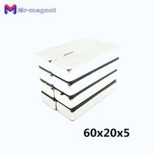 20pcs 60x20x5mm Super strong neo neodymium magnet 60x20x5, NdFeB 60*20*5mm, 60mm x 20mm 5mm magnets 60mmx20mmx5mm