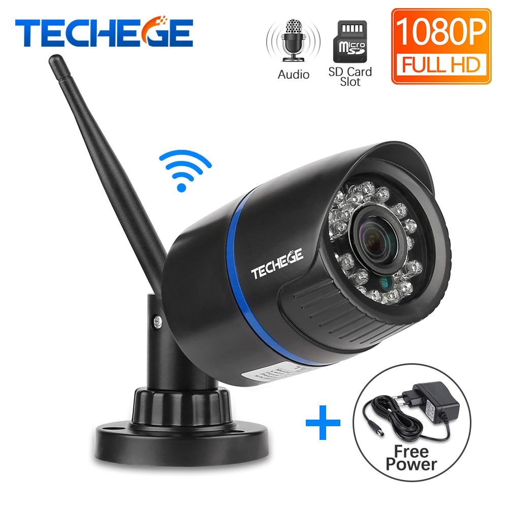 Techege 1080 P WIFI IP Kamera Audio Record Im Freien Wasserdichte P2P Nachtsicht 2.0MP Drahtlose Verdrahtete Motion Erkennung APP Remote