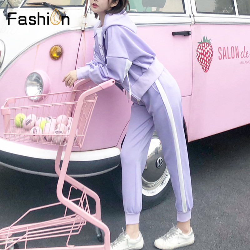 Women Hooded and Long Pants Sets Full Sleeve Tracksuit Sexy Spring Autumn Ladies Outfit Two Piece Set Sportswear Sweat Suit 4