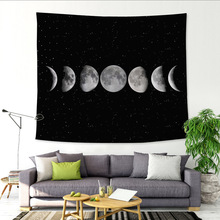 229x150cm Multiple Sizes Galaxy Big Tree Moon Scenery Tapestries Plant Printed Wall Hanging Decoration Tapestry Beach Mat