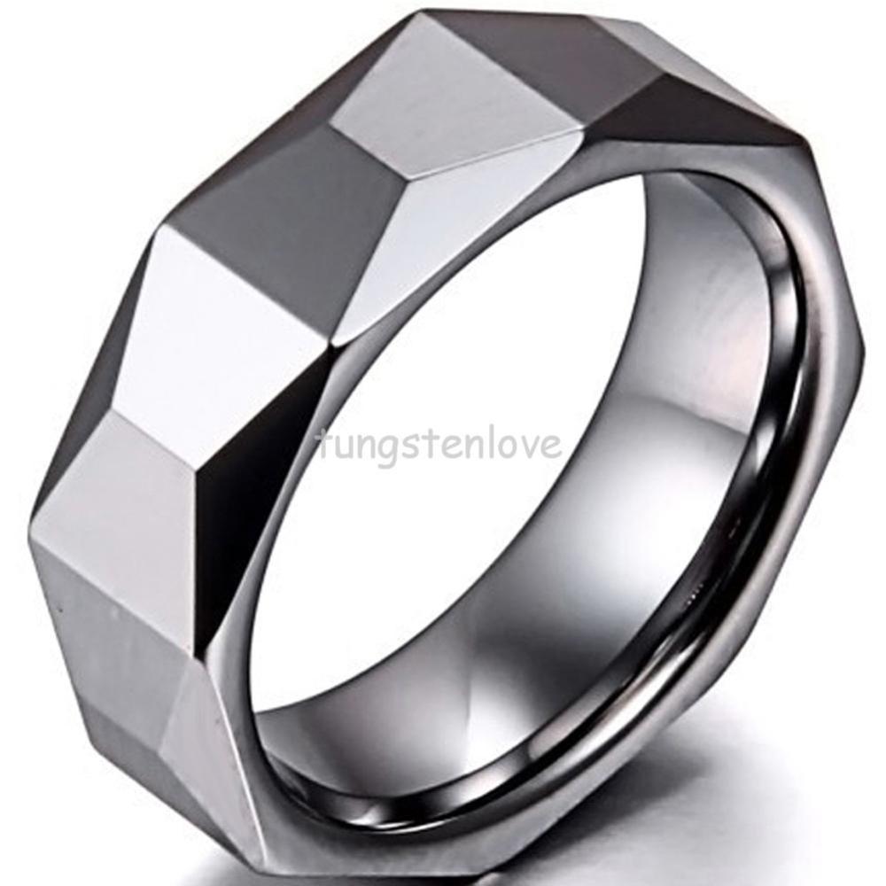 rock meteorite ring cobalt wedding rings