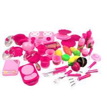 40pcs/set Children Food Toy Kitchen Play Role Toys Pink Kitchen Food Cooking Simulated Pretend Toy For Children Christmas Gift