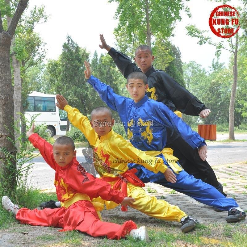 Děti a dospělí Výšivka Tai chi Changquan Oblek Bojová umění Kung fu Wing Chun Karate Uniformy