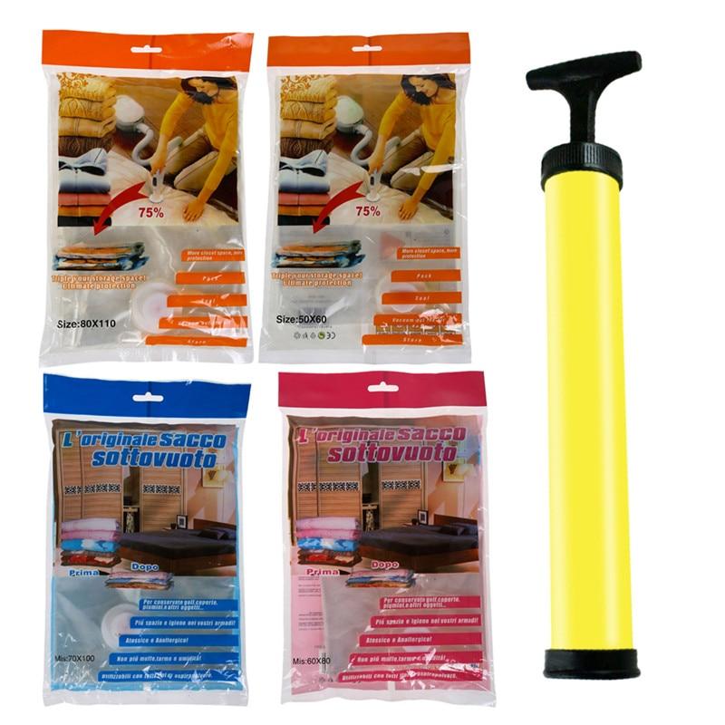 Plastic Vacuum Seal Organizer Travel Vacuum Package Bags Compressed