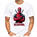 Novos 2016 dos homens de moda manga curta bonito deadpool impresso marca t-shirt clothing engraçado camisetas hipster o pescoço partes superiores legal