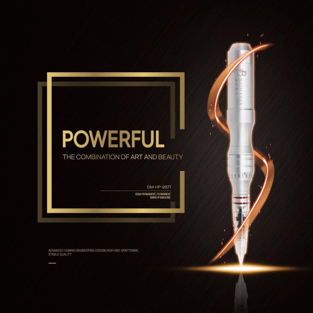 Biomaser Professional Permanent Makeup Machine Pen with Cartridges Needles Eyebrow lip Tattoo Gun Rotary Pen Machine HP9871
