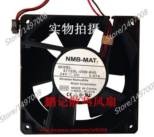 NMB-MAT 4715SL-05W-B60, D02 DC 24V 0.67A 120x120x38mm Server Square fan sw 05w
