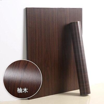 Rénovation de meubles motif grain de bois PVC papier peint auto-adhésif armoire de cuisine armoire étanche à l'usure porte autocollant