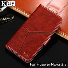 For Huawei Nova 3i 3 Case K'try Luxury Pu leather Wallet Case Soft Silicone Flip Cover For Huawei Nova 3 i 3i Phone Case Coque
