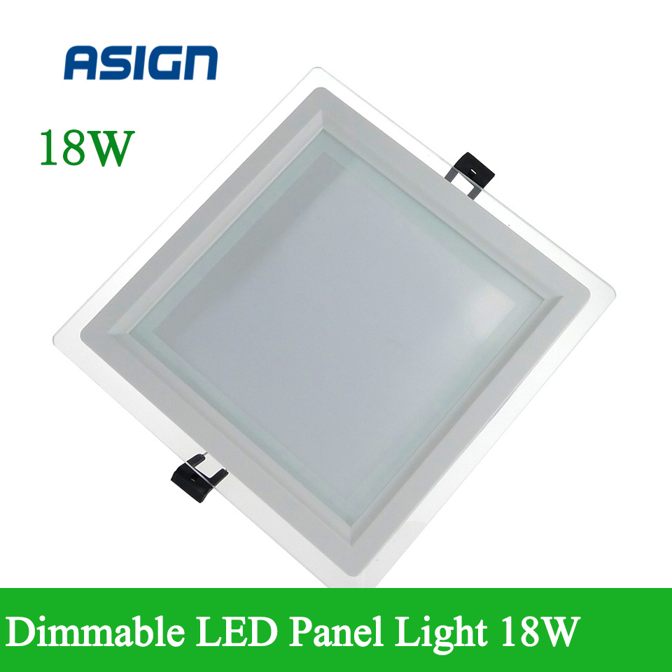 Super Affordable 12W glass LED panel downlight Ceiling Recessed Downlight / square Panel Light AC85-265V For Home Decoration