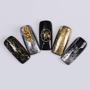 Image 4 - DOĞAN PRETTY Altın Gümüş Tırnak Şerit Ayna Flakies Metal 3D Tırnak Dekorasyon Tel Hattı UV Jel Tırnak Sanat Dekorasyon Aksesuarları