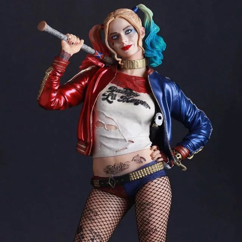 Crazy Toys Suicide Squad Harley Quinn Action Figure and Harley Quinn Keychain Doll Anime Collectible Model Toy 26cm In Boxed (8)