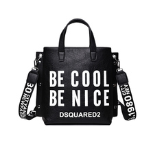 9e048cbc8552 Women Fashion PU Letters Handbag INS Popular Large Female Travel Shoulder  Bags Hot Lady Holiday Exquisite