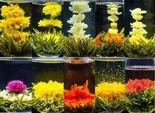 12 tipo de la flor de té, té artesanal hecha de diferentes flores de colores, individula de vacío paquete de té
