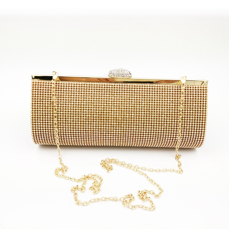 Ellacey Women Rhinestone Silver Gold Clutch Evening Bag With Diamond Ladies Banquet Handbag Day Clutch For Party Bags With Chain diamond crystal mini evening party bag women beading day clutches ladies chain gold clutch purses and handbag smyzh f0040