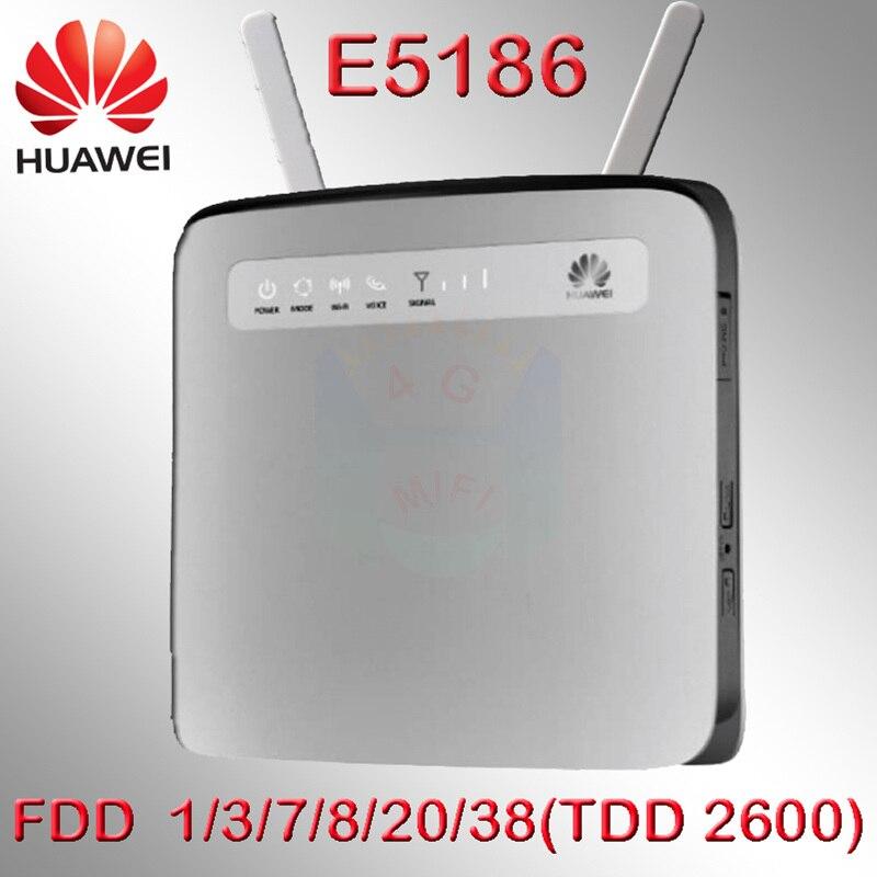 Débloqué cat6 300 mbps Huawei e5186 E5186s-22a 4g 3g routeur 4g wifi dongle Mobile hotspot 4g cpe voiture routeur pk b593 e5176 e5172