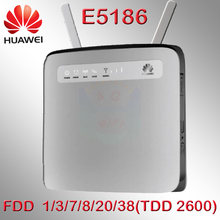 Desbloqueado cat6 300mbps 4g router huawei e5186 4g lte router E5186s-22a 4g wifi dongle Mobile hotspot 4g cpe rj45 cat6(China)