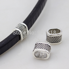 20pcs/lot Antique Tibetan Silver Color Tone Base Metal Spacer Beads Fit 7*10.5mm Leather Cord for DIY Jewelry Findings F1936B