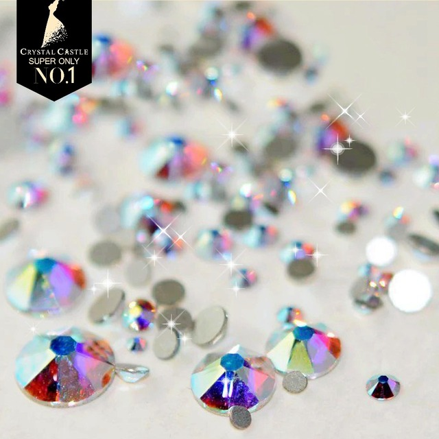 Crystal Castle 5A Best Shiny Rhinestones Mixed Size 1440pc None Hotfix  Strass Nail Art Crystal Hot 52abc1432447