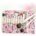 Pro 12Pcs small fresh rose flower wool brush set /influx of people must /makeup brushes/Foundation Powder Blush Eyeliner Brushes