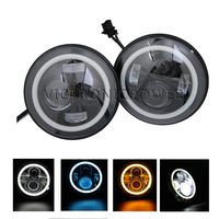 7 7inch Led Head Light Led Work Driving Light Used 4x4 Offroad Headlight Multi Yellow Color