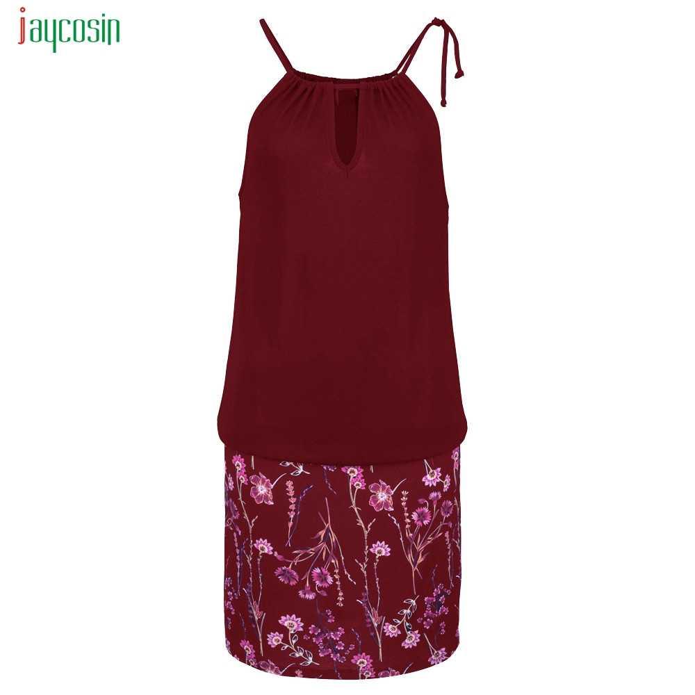 Jaycosin 夏ミニドレス花柄自由奔放に生きるチュニックドレス女性シースセクシーなサンドレス Vestidos デ · フェスタ新